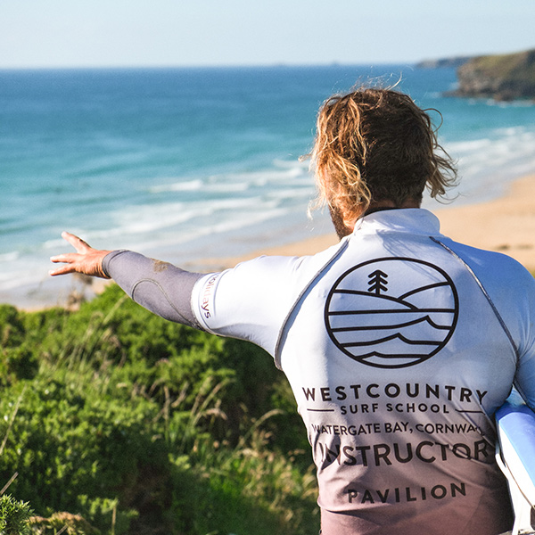 Learning to surf with West Country Surf School