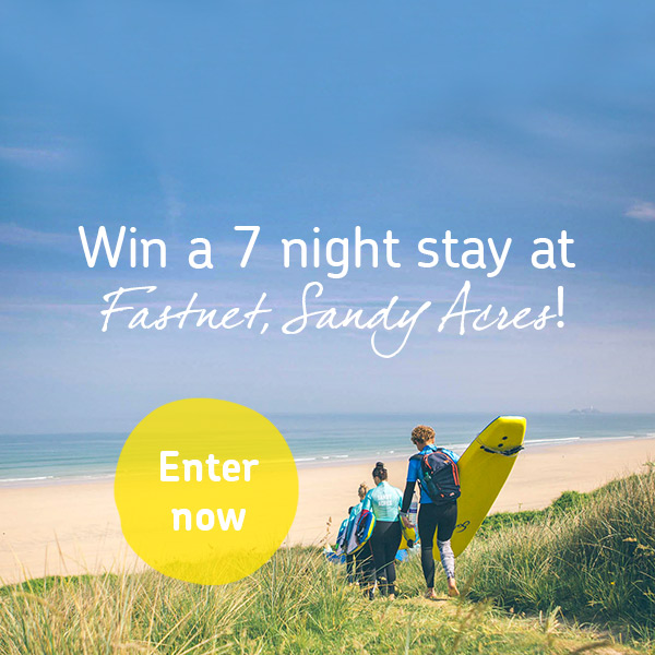 Win a 7 night stay at Fastnet, Sandy Acres!
