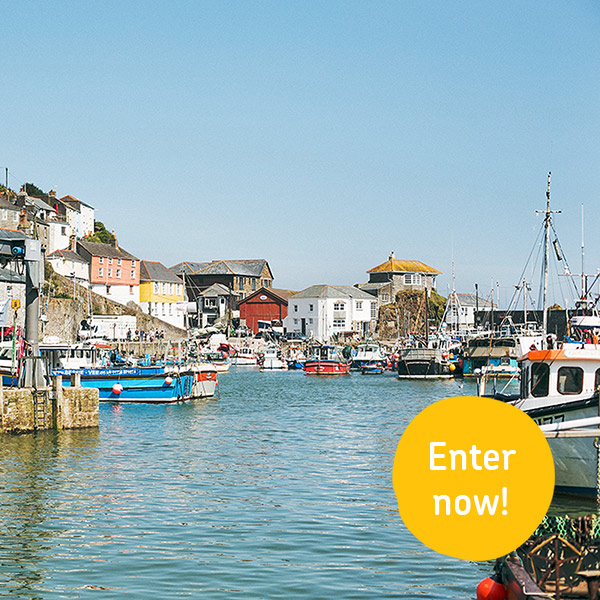 Win a 7 night stay for 2 in Mevagissey!