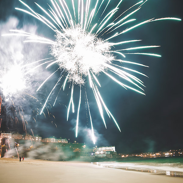 Bonfire Night events in Cornwall