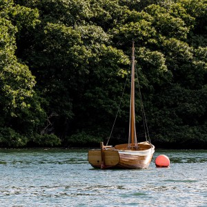 A boat trip along Helford River