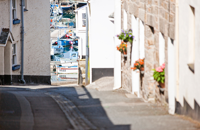Cobbled streets of Newlyn
