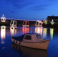 Christmas lights and shopping in Cornwall