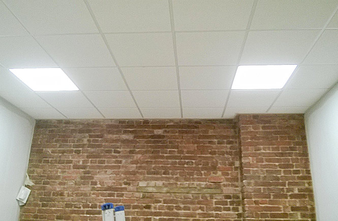 New lighting in the new ceiling