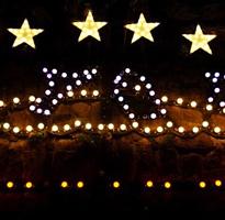 Star Gazey pie Christmas lights, Mousehole