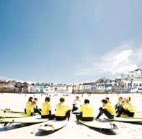 Surf Lesson on Porthmeor Beach