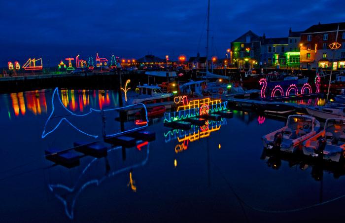 Padstow Christmas Light display