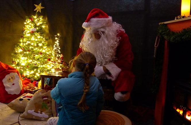 Santa in his grotto