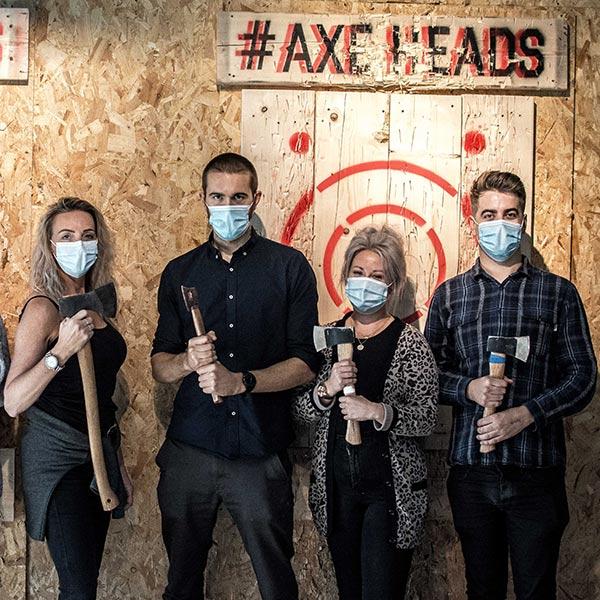 Urban axe throwing in Cornwall