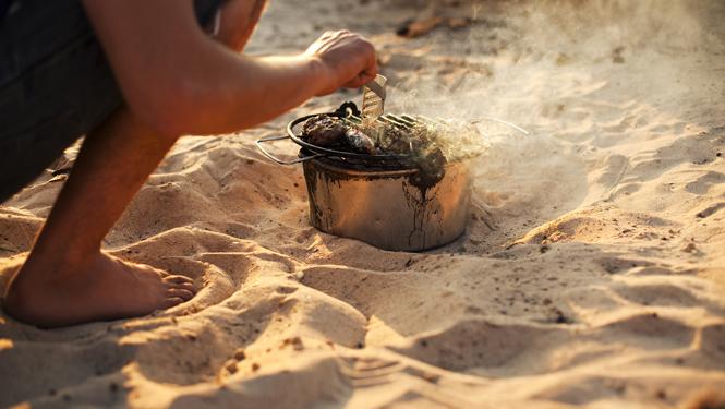 BBQ at Gwithian beach