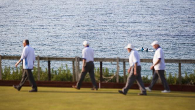 Bowling green, Porthmeor, St Ives