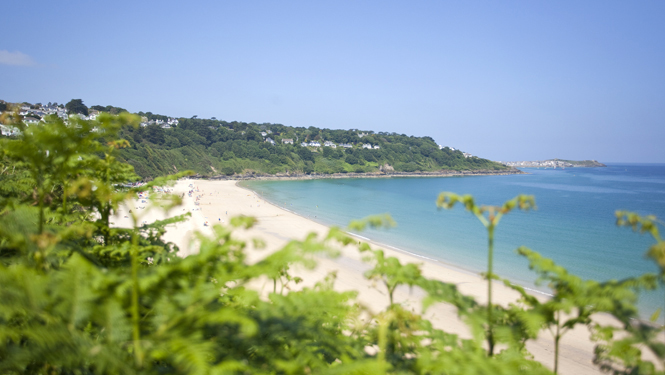 Overlooking Carbis Bay Beach