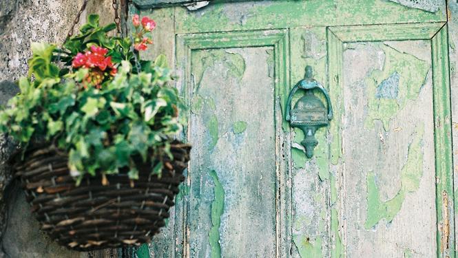 Old door in St Ives Town