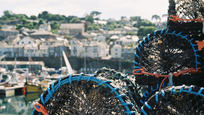 Lobster pots at Newlyn Harbour