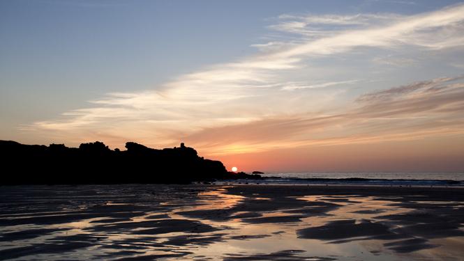 Sunset over Porthmeor beach