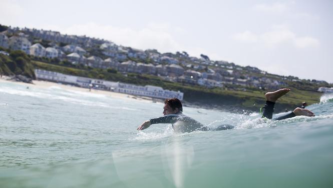 Porthmeor Surfing, St Ives