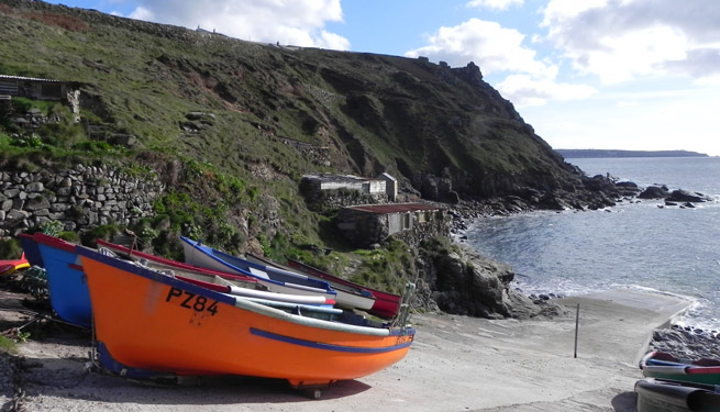 Fishing boats St Just Cape Cornwall